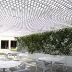 Perforated canopy